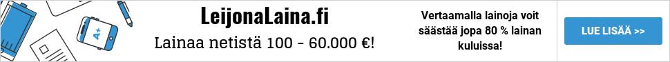 Leijonalaina.fi - Lainaa heti 100 - 70.000 euroa!