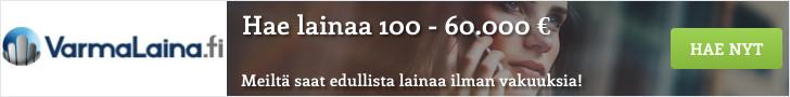 VarmaLaina.fi - Lainaa heti 100 - 60.000 euroa!